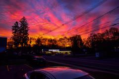 Sunset-7 (TheseusPhoto) Tags: sunset colors beautiful cloudscape clouds sun light dusk goldenhour trees newengland color silhouette phantasmagoria colorful