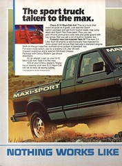 1985 Chevrolet Chevy C-10 Maxi Cab 4X4 Pickup Truck Page 1 USA Original Magazine Advertisement (Darren Marlow) Tags: