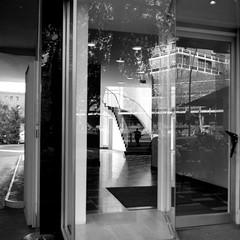 Mirror Stories (ucn) Tags: rheinmetallweltax tessar75mmf35 agfacopexrapid mirror staircase spiegelung filmdev:recipe=12019 adoxadoluxatm49 developer:brand=adox developer:name=adoxadoluxatm49