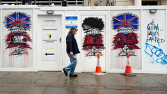 Site Office (stevedexteruk) Tags: nathan bowen art farted hoarding street charingcrossroad london uk 2019 cone