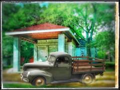 A sweet dream.... (Sherrianne100) Tags: nostalgia gasstation flatbedtruck oldtruck missouri