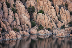 Watson Lake-0757-Edit (Michael-Wilson) Tags: michaelwilson watsonlake lake water sunrise prescott arizona southwest desert granite calm morning dawn predawn phtotography peavine trail hike hiking clouds still tranquil