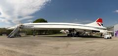 Concorde at Brooklands Museum, Surrey (baldychops) Tags: concorde airliner aircraft britishairways supersonic icon iconic brooklands brooklandsmuseum museum outdoor visit visitor weybridge surrey plane panorama panoramic iphone iphone8 iphone8plus sun sunshine