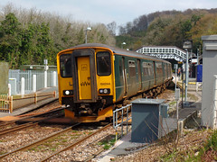 150244 Bodmin Parkway (Marky7890) Tags: gwr 150244 class150 sprinter 2c69 bodminparkway railway cornwall cornishmainline train
