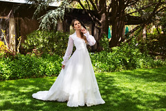 Lady Aurora (Colby Files Photography) Tags: colbyfiles aurora tlaquepaque weddingdress arizona azphotographer beauty bridal dress fashion fashionart hat model moody portrait sedona wardrobe