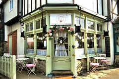 Sally's Cake Emporium (Croydon Clicker) Tags: shop tea cakes cafe restaurant chair table seat door flowers street fence windows building otford kent