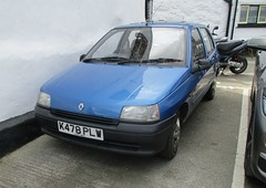 1992 Renault Clio 1'2 (occama) Tags: k478 plw 1992 renult clio 12 blue old car cornwall uk french