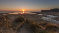 A river runs through it. (Through Bri`s Lens) Tags: devon croydebay sunsetreflections river sanddunes sand grasses brianspicer canon5dmk3 canon1635f4 leereversegradfilter beach beachphotography