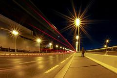 Night Vibes (CoolMcFlash) Tags: light trails traffic street streetphotography vienna reichsbrücke person waiting night longexposure canon eos 60d motion blur lichtspuren verkehr strase wien warten nacht langzeitbelichtung bewegungsunschärfe fotografie photography sigma
