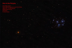 Mars_Pleiades_2019-04-04 (simon.dawes) Tags: mars pleiades sevensisters m45 nightsky astronomy conjunction astropixelprocessor