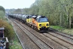 70817 Taylor St Blackburn 15-4-19. (Blackburns Railway Scene) Tags: 70817 class70s colas 6e32 ainsworthbridge