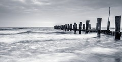 fishing dock (muman71) Tags: dscf3447 ostsee balticsea zingst meer wasser langzeitbelichtung 12sec f8 xt2 fuji ndfilter 18mm iso100 sw blackwhite 2017