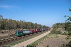 LTE 193-733, Holten (cellique) Tags: lte vectron ell 193733 containertrein goederentrein cargo holten spoorwegen treinen eisenbahn zuge railway train guterzug