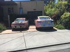 IMG_0356 (Passin'Gas) Tags: tesla models porsche 911 artcar millvalley
