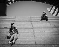 La Juventud. (The Youth) (Capuchinox) Tags: chica escaleras girl youth juventud stairs fotografo photographer bw blancoynegro olympus sevilla seville spain españa street calle