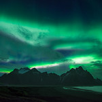 More northern lights over Vestrahorn thumbnail