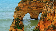 The slow patience of the deep! (elena.voroniouk) Tags: travel cliffs beach sea nature formations outside algarve portugal