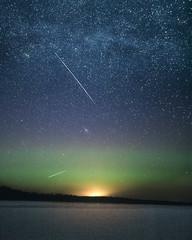 (thom1331) Tags: milky way milkyway aurora stars night sky winter snow dark glow andromeda
