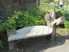 Leaf bench, Broughshane, Co Antrim N Ireland. (lorraineelizabeth59) Tags: leaf wood wooden bench broughshane ballymena countyantrim ni northernireland