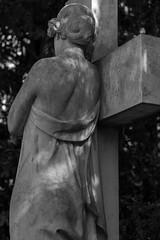 She (michael_hamburg69) Tags: hamburg germany deutschland cemetery friedhof ohlsdorf sculpture skulptur female standortj7 kreuz crucifix grabmalsprecher sculptor bildhauer hansdammann 1906 woman