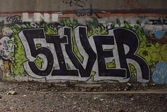 5IVER (TheGraffitiHunters) Tags: graffiti graff spray paint street art colorful nj new jersey trackside wall 5iver