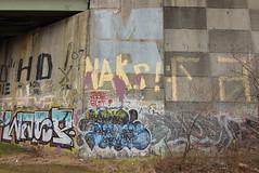 MD NAKS (TheGraffitiHunters) Tags: graffiti graff spray paint street art colorful nj new jersey trackside wall md crew naks sape sape4 drane goal