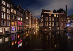 Amsterdam (Antoni Figueras) Tags: amsterdam netherlands holland europe cityscape canal windows night bluehour reflections clouds longexposure sonya7riii sony1635f4 antonifigueras