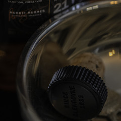 Glengoyne Cap - Happy Macro Monday (Royal Canadian) Tags: macromondays bottlecap scotch quaich highland whisky singlemalt cork bottle scotland glengoyne 21