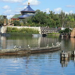 Florida - Orlando: EPCOT Center, Walt Disney World - World Showcase - view to Chinese Pavillon thumbnail