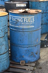(Sam Tait) Tags: shakespeare raceway england avon park long marston drag strip dragstrip derelict urbex abandoned closed shut vp race fuel fuels drum barrel 45 gallon blue stratford upon county racing dragster track blacktop 2 lane rip shakey memories warwickshire sunny easter monday
