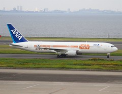 All Nippon Airways ( ANA )                                 Boeing 767                                       JA604A (Flame1958) Tags: allnipponairways ana anab767 allnipponairwaysb7672ana star warsboeing 767boeingb767767star warsstar wars planehndhanedatokyo haneda 191016 1016 2016 ja604a 3192