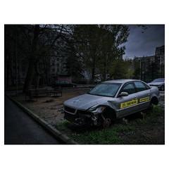 . (Vako Darispanashvili) Tags: vscogeorgia abandoned car crash mobile huawei leica tbilisi georgia audi