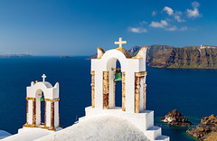 _MG_9709 - The famous church in Oia (AlexDROP) Tags: 2017 europe greece santorini greek travel color city urban daylight belfry architecture orthodox church canon6d ef241054lis best iconic famous mustsee picturesque postcard