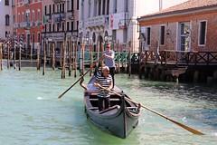 As I row, row, row going so slow, slow, slow (M. Word) Tags: rowing hats tshirt stripes laguna river water gondoliers gondolier gondola venice wenecja venezia veneto