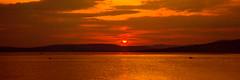3 Little Boats (Brian Travelling) Tags: scotland pentax pentaxk20d sunset sunsetsandsilhouettes sundown sun sunlight sunshine golden firthofclyde riverclyde reflection water sky clouds
