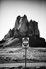 Ford Butte: Do Not Enter (Robert_Brown [bracketed]) Tags: photo photograph newmexico shiprock dry desert southwest northernnm nm northernnewmexico nature sunlight daylight rock steep stone blackandwhite desolate sky dramatic highdesert morning ford fordbutte butte usa nwnewmexico nm491 hwy491 highway491 491