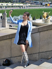 Snakeskin boots (pivapao's citylife flavors) Tags: paris france trocadero girl beauties photographer