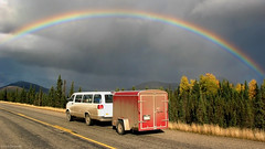 Alaska: Dalton Highway rainbow (Henk Binnendijk) Tags: alaska usa vs daltonhighway haulroad van expedition busje roadtrip rainbow regenboog clouds rain rainstorm