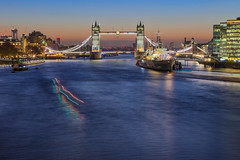 Pure Morning (Tower Bridge and HMS Belfast, London, United Kigdom) (AndreaPucci) Tags: london uk towerbridge hmsbelfast andreapucci sunrise cityhall