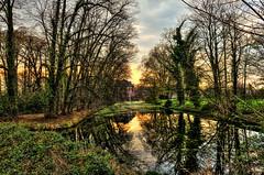Weeze - Schloss Wissen with Niers river (Daniel Mennerich) Tags: weeze nrw niederrhein germany deutschland schlosswissen canon dslr eos hdr hdri spiegelreflexkamera slr