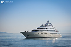 Eminence - 78m - Abeking & Rasmussen (Raphaël Belly Photography) Tags: rb raphaël monaco raphael belly photographie photography yacht boat bateau superyacht my yachts ship ships vessel vessels sea motor mer m meters meter eminence 78m 78 abeking rasmussen white blanc bianco beige crème cream imo 1009481 mmsi 319863000