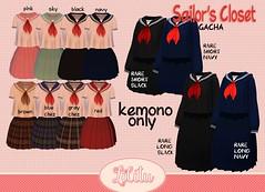 Sailor's Closet GACHA (Moanna Mistwallow) Tags: kemono anime secondlife second life utilizator gacha uniform sailor sailorfuku japanese cute kawaii lilitustore lilitu 55 50 dress set closet sailors avatar fashion