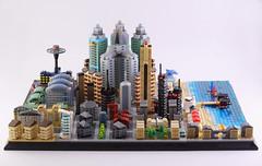 Lego microcity MERIBIA (guitar hero78) Tags: afol lego legomoc legocity moc microscale microcity fujifilm xe1 diorama
