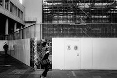 _1330342B Urban space (soyokazeojisan) Tags: japan osaka city street bw blackandwhite wall monochrome digital lumix tx1 2019