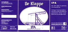Netherlands - Brouwerij De Klappe (Zuidbroek) (cigpack.at) Tags: netherlands niederlande holland deklappe brouerwij zuidbroek ipa bier beer brauerei brewery label etikett bierflasche bieretikett flaschenetikett