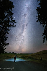 What Lies Ahead? (OJeffrey Photography) Tags: milkyway nightsky nightscape night newzealand panorama pano silhouette lightpainting roadway ojeffreyphotography ojeffrey jeffowens nikon d850