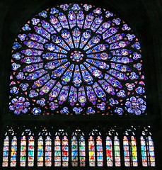 The North Rose stained glass window at Notre Dame cathedral, Paris, France (LuciaB) Tags: northrosewindow notredamecathedral paris france stainedglass 13thcentury gothicart gothicarchitecture