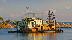 the dredger - Playa Pesquero, Holguin, Holguín Province, Cuba - Feb 2019 (Dis da fi we) Tags: dredging dredger playa pesquero holguin holguín province cuba sun sunrise morning light machine heavy