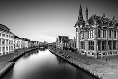 Medieval Ghent III (Alec Lux) Tags: bw bnw architecture belgie belgium black blackandwhite building buildings city cityscape exterior facade gent ghent haida haidafilters longexposure outdoor outside skyline urban white