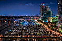 Miami Marina (justenoughfocus) Tags: miami sonyalpha southbeach cityscape florida madewithluminar night nightphotography skylum sonyimages travel travelphotography unitedstates urban urbanexploration urbex locations miamibeach unitedstatesofamerica